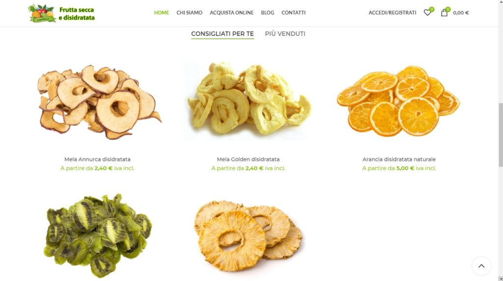 Frutta disidratata Agri Covelli